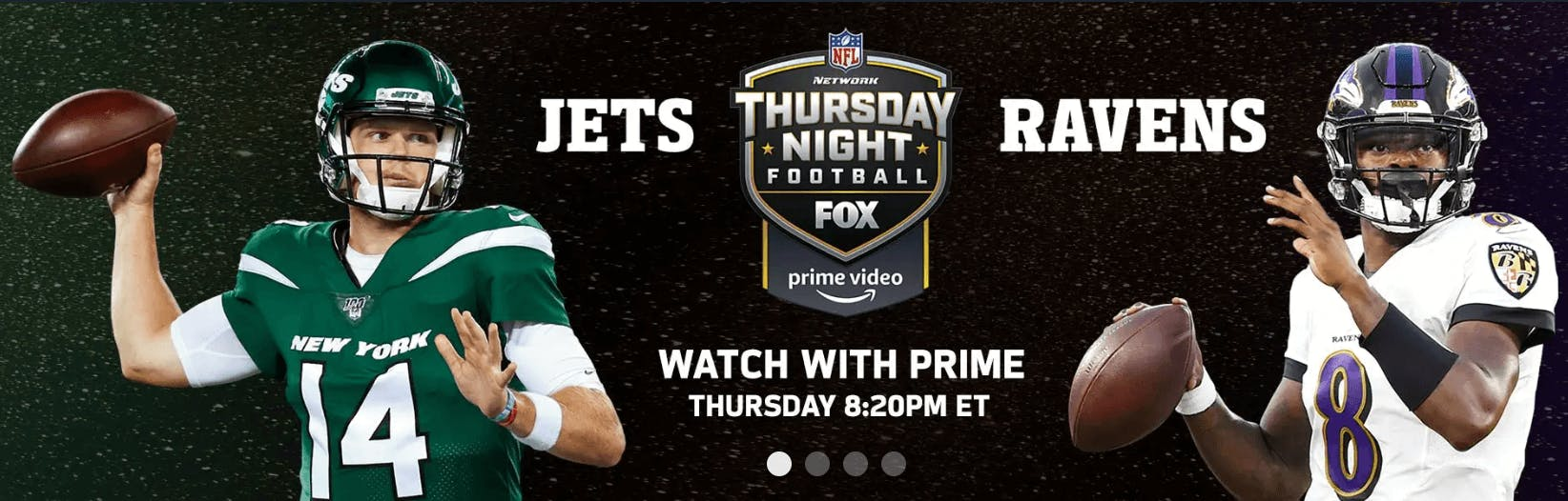 ravens jets amazon prime streaming football nfl