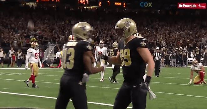 saints taysom hill michael thomas touchdown celebration