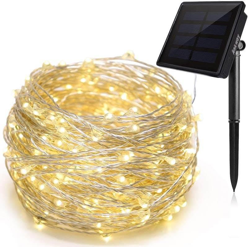 solar powered christmas lights - ankway