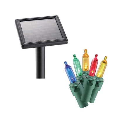 solar powered christmas lights - home accents