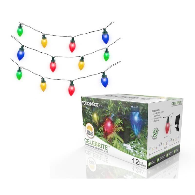 solar powered christmas lights - led 12