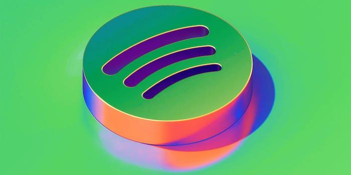metallic 3d spotify logo