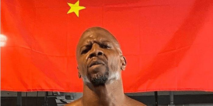 terry crews china instagram