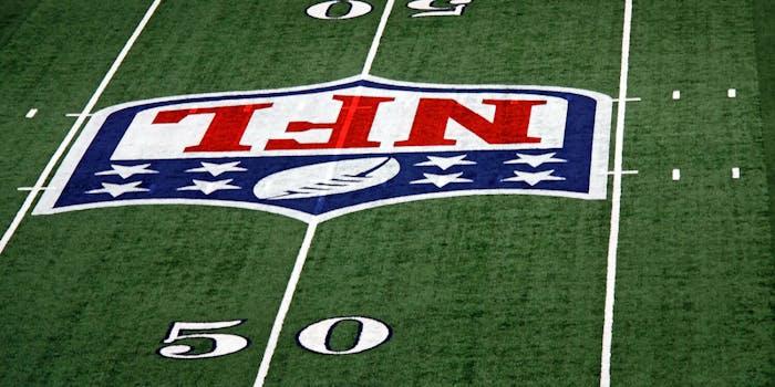 50 yard line with NFL logo