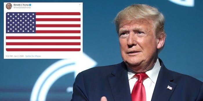 Donald Trump Pixaleated Flag Soleimani