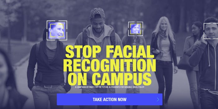 Facial Recognition Campus Fight for the Future