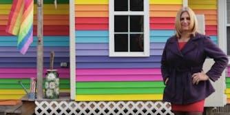 New York rainbows house transphobia