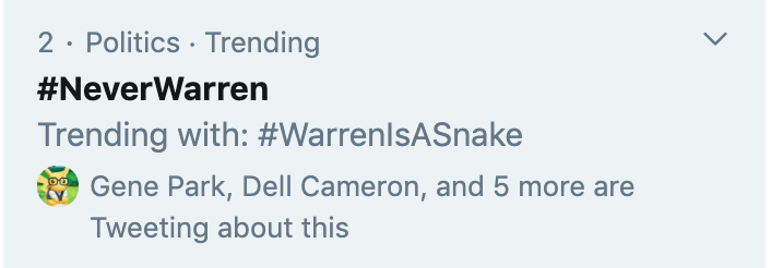never warren warren is a snake