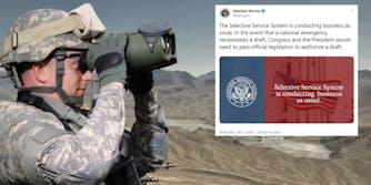 Selective Service Iran Tweet