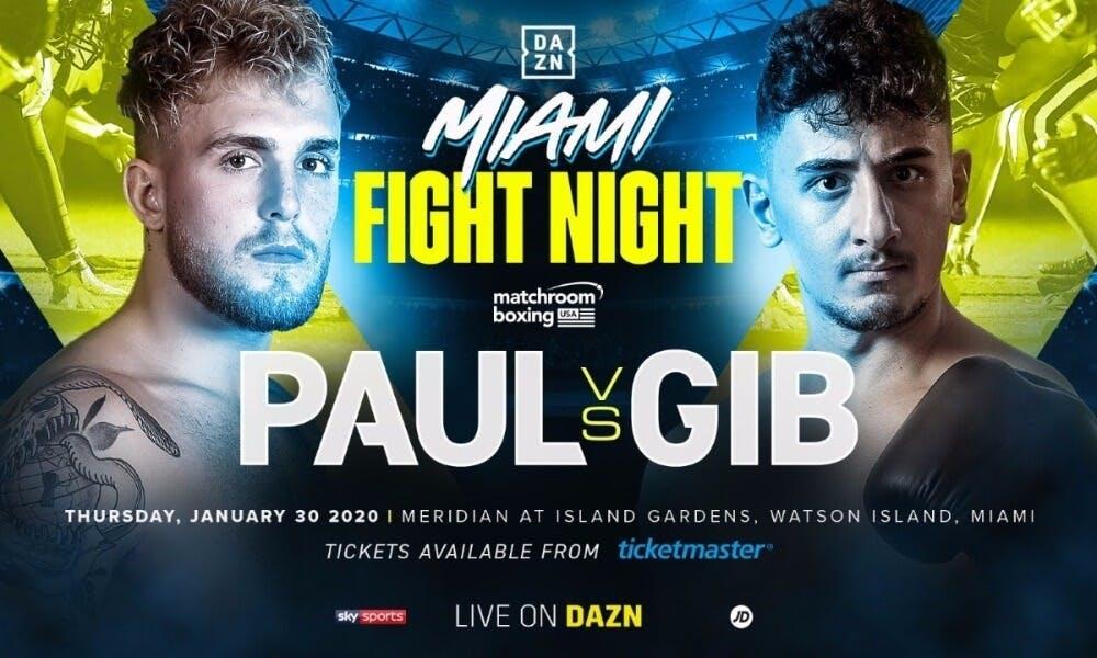 AnEsonGib vs Jake Paul YouTube boxing DAZN
