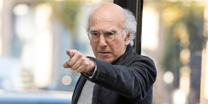curb your enthusiasm, larry david pointing