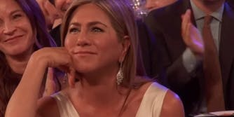 Jennifer Aniston Brad Pitt moment at SAG Awards