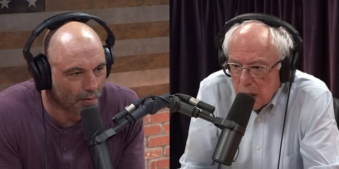 joe rogan and bernie sanders