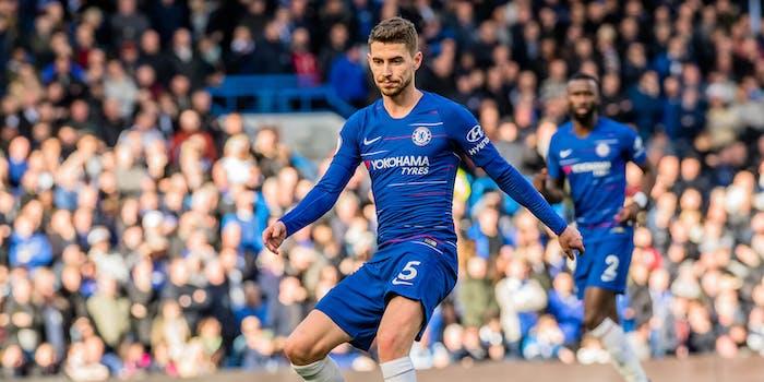 Jorginho playing in a Chelsea match