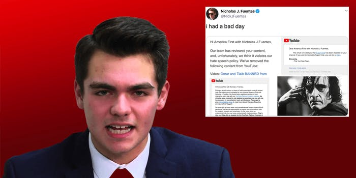 Nick Fuentes YouTube ban