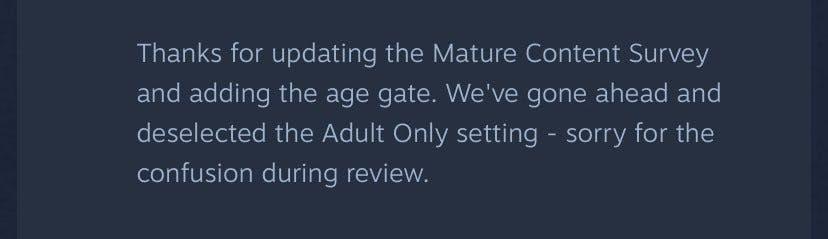 steam mature content