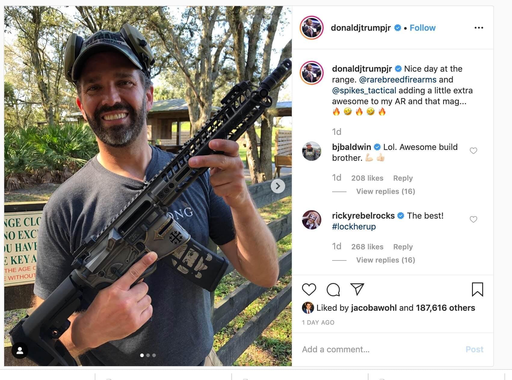 trump jr hillary gun