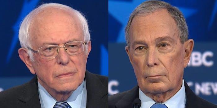 Bernie Sanders Michael Bloomberg Billionaire Debate