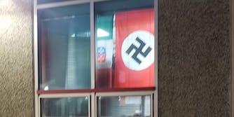 Nazi flag at Governor Thomas Johnson High School