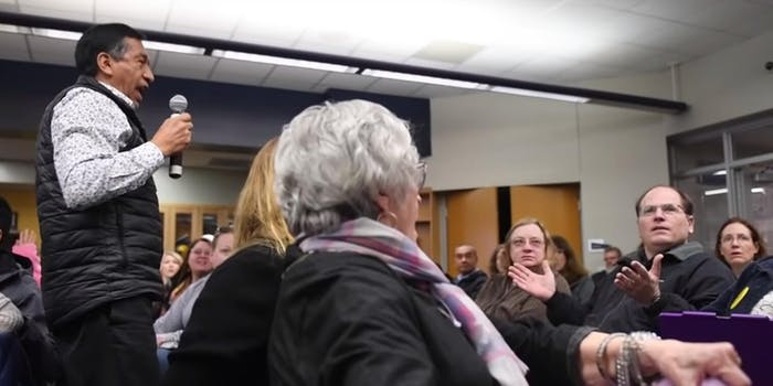 Tom Burtell seen shrugging after asking a racist question Adrian Iraola