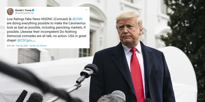 Donald Trump Coronavirus Typo Caronavirus