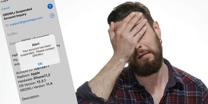 GROWLR - dating app down