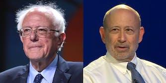 Lloyd Blankfein Bernie Sanders