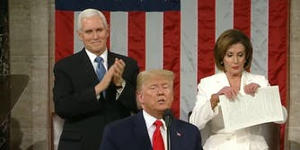 Nancy Pelosi Tear Up Donald Trump State of the Union Speech