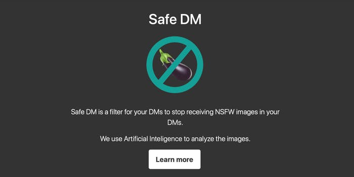 Safe DM removes unwanted nude pictures