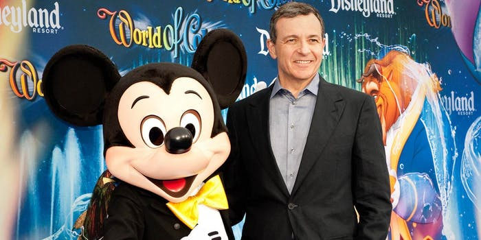 Mickey Mouse and ex-Disney CEO Bob Iger