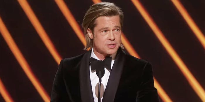 brad pitt oscars speech
