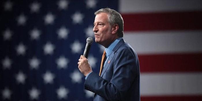 Bill de Blasio NYPD union