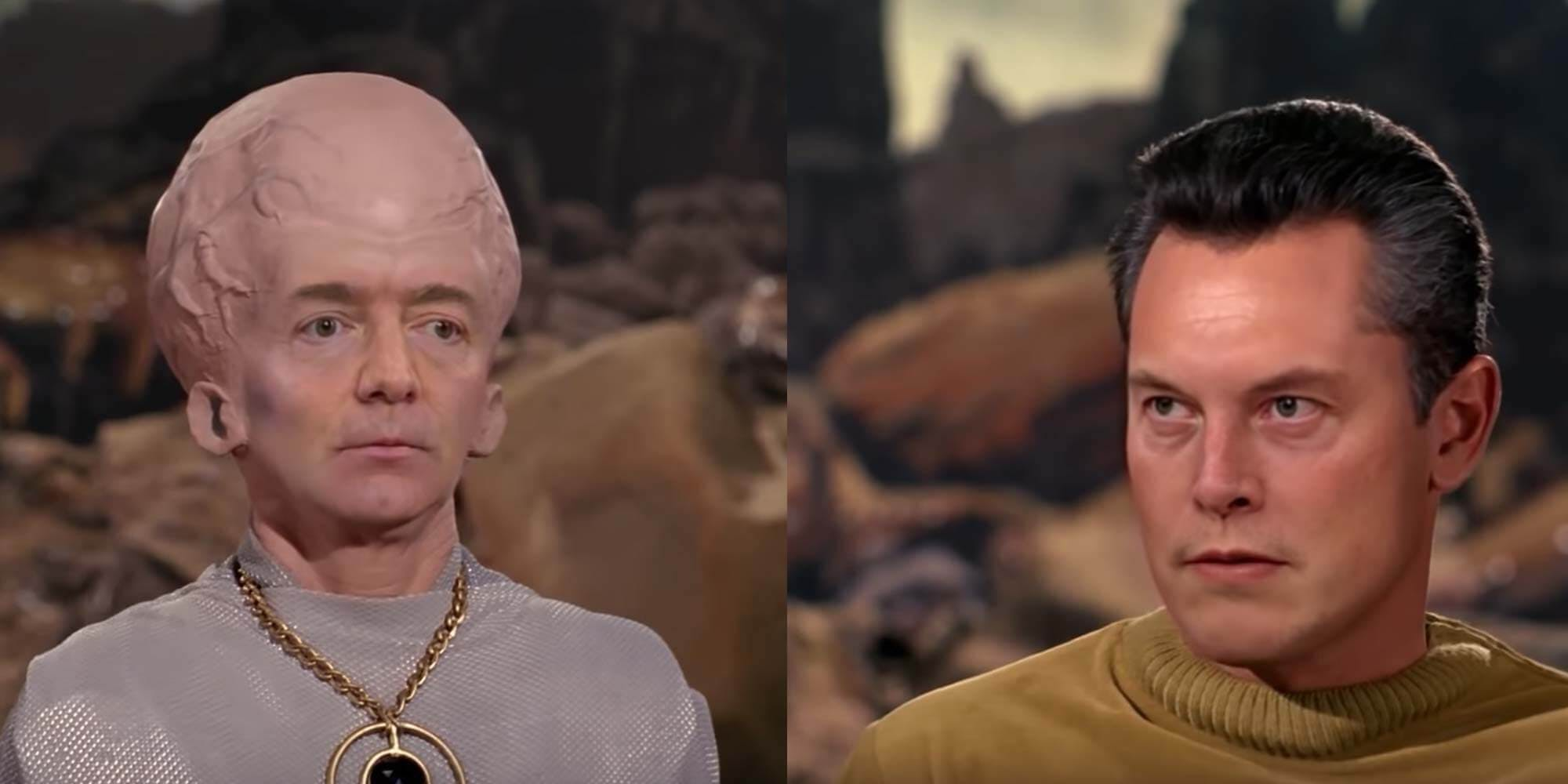 Jeff Bezos and Elon Musk Star Trek deepfake