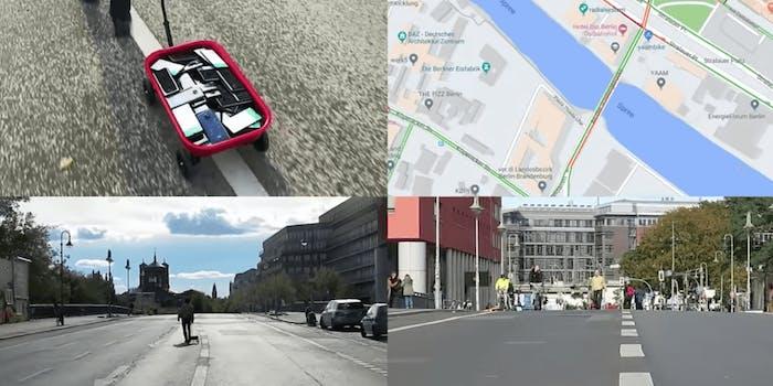Google maps traffic jam wagon phones