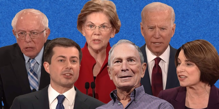 bernie sanders, elizabeth warren, joe biden, pete buttigieg, mike bloomberg, amy klobuchar