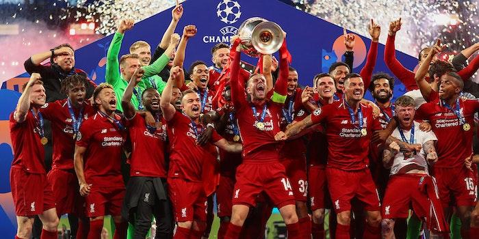 stream champions league liverpool celebration