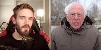 PewDiePie and Bernie Sanders