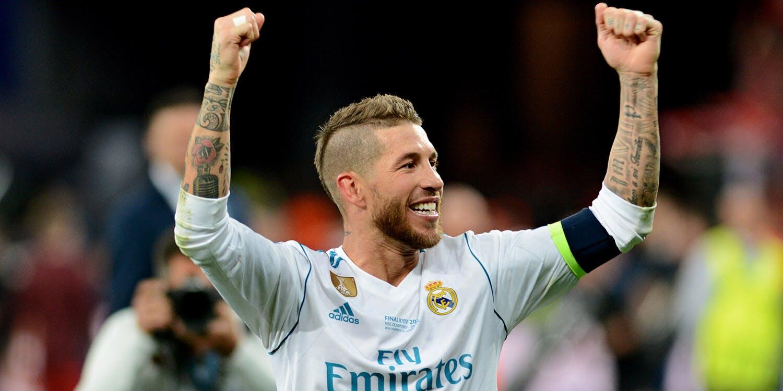 Sergio Ramos celebrating