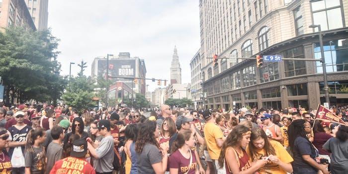 Cleveland Cavs celebration