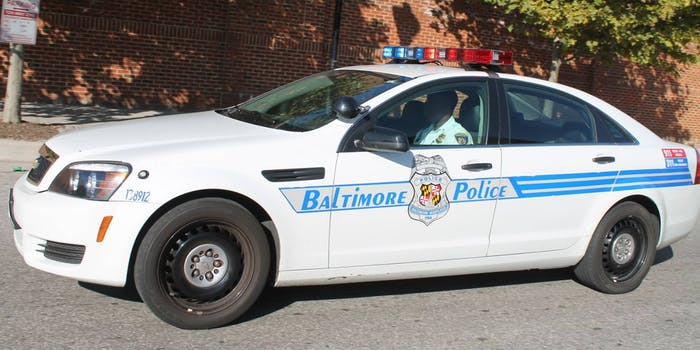 Baltimore Police car