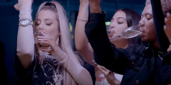 tana mongeau drinking recovering alcoholic friend