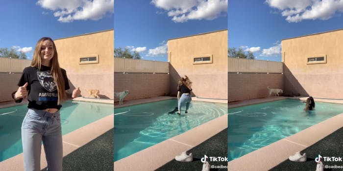 Tiktok teen saving dog
