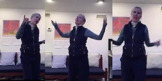 Tisch dean dancing to losing my religion