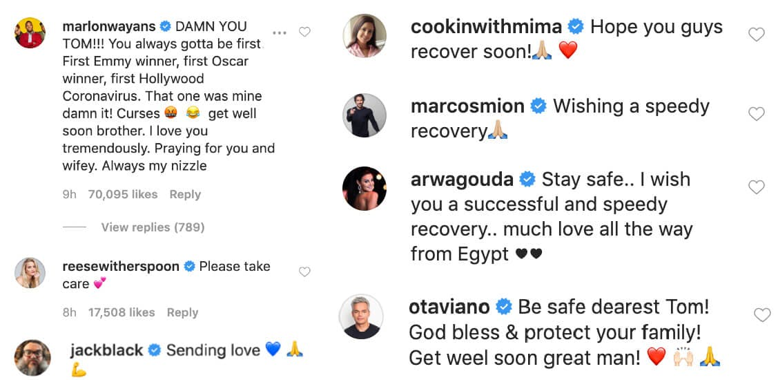 Tom Hanks - coronavirus comments