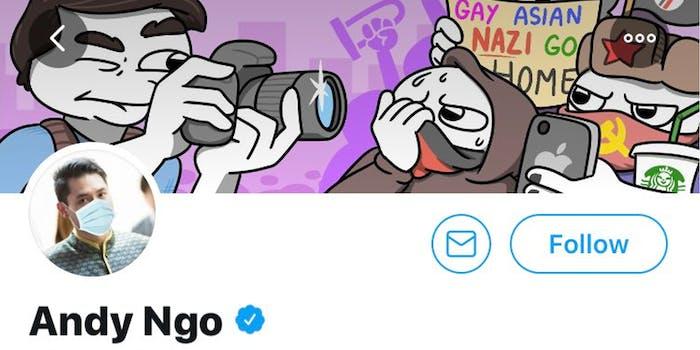 Andy Ngo's Twitter profile