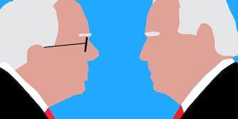 illustration of bernie sanders and joe biden