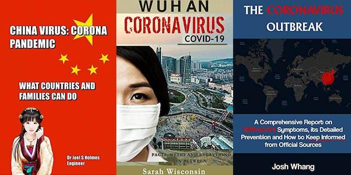 Three coronavirus-related book from Amazon