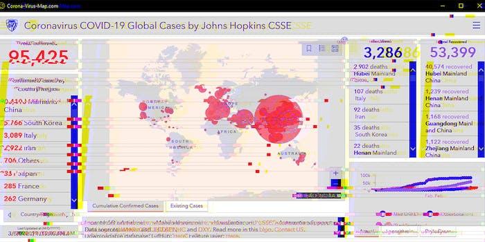 coronavirus outbreak map malware