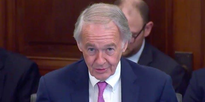 Senator Edward John Markey speaking to the USDOT