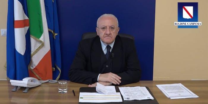 Italian mayor press conference on coronavirus
